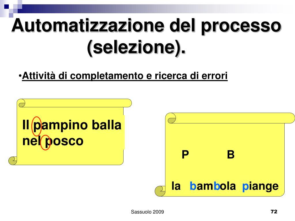 Automatizzazione del processo
