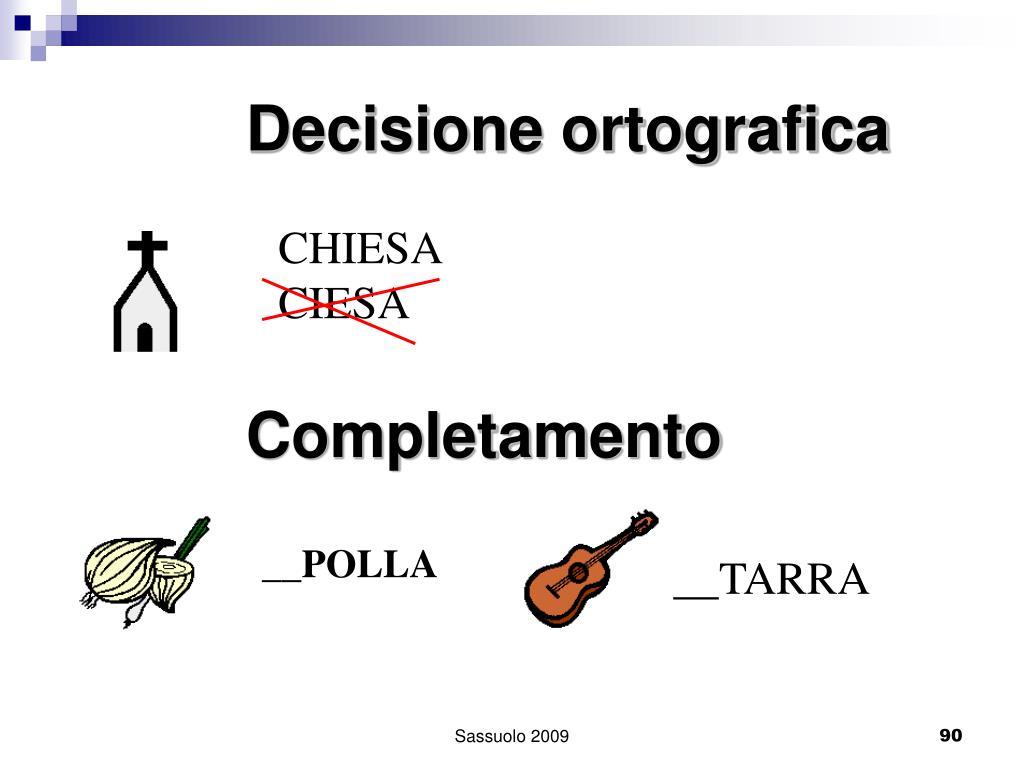 Decisione ortografica