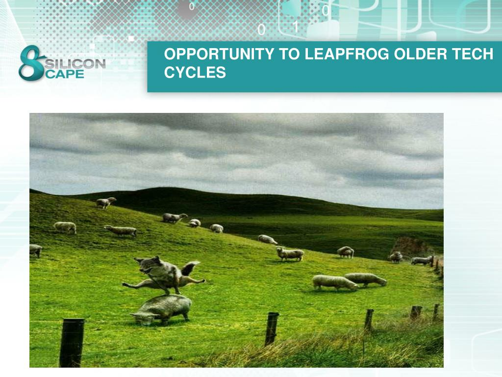 OPPORTUNITY TO LEAPFROG OLDER TECH CYCLES