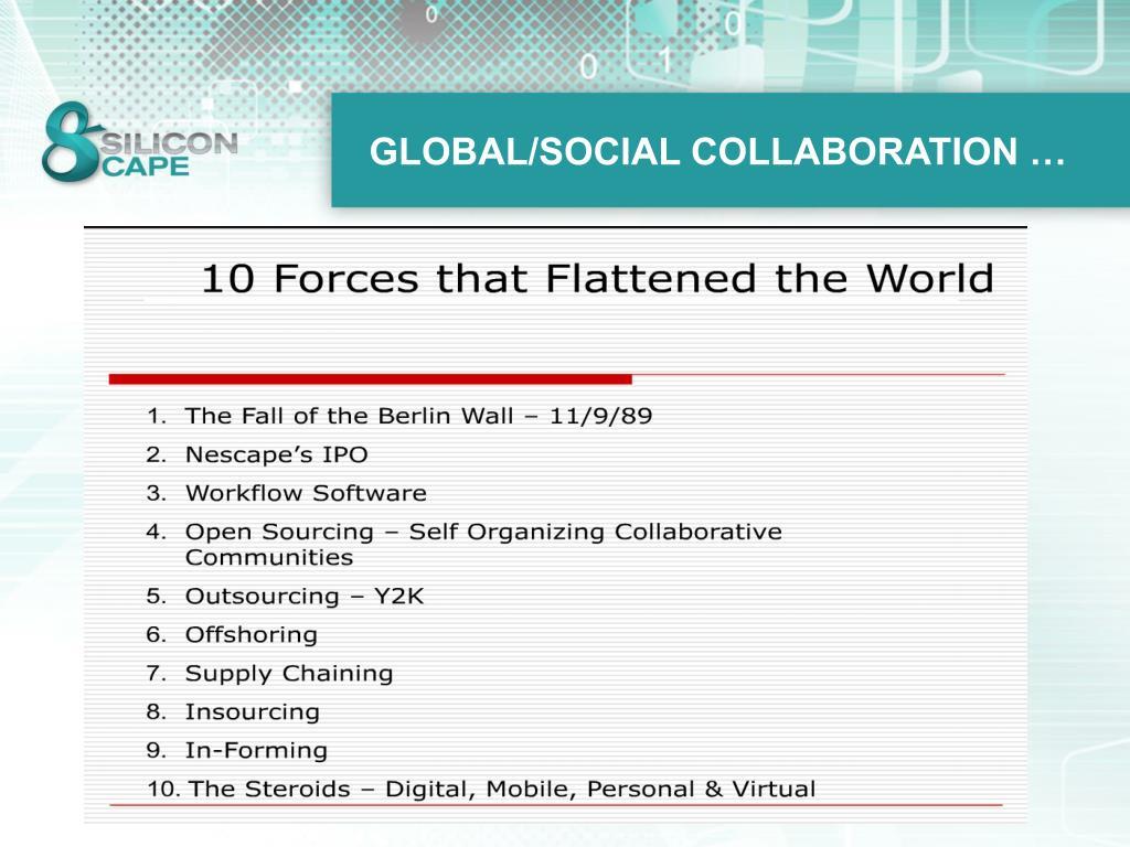 GLOBAL/SOCIAL COLLABORATION …