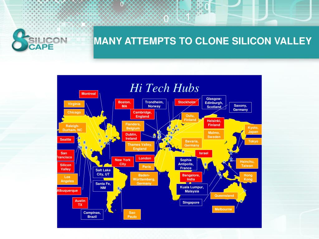 MANY ATTEMPTS TO CLONE SILICON VALLEY
