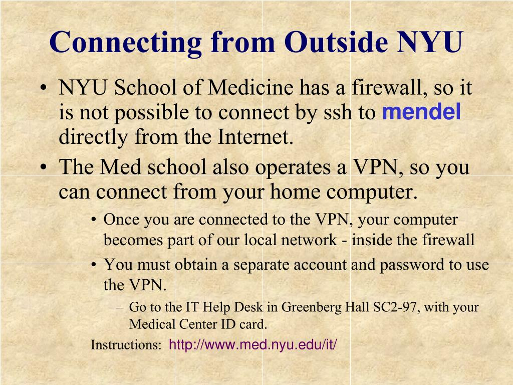 Connecting from Outside NYU