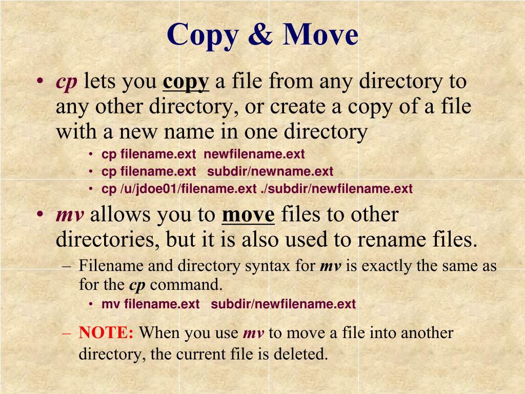 Copy & Move