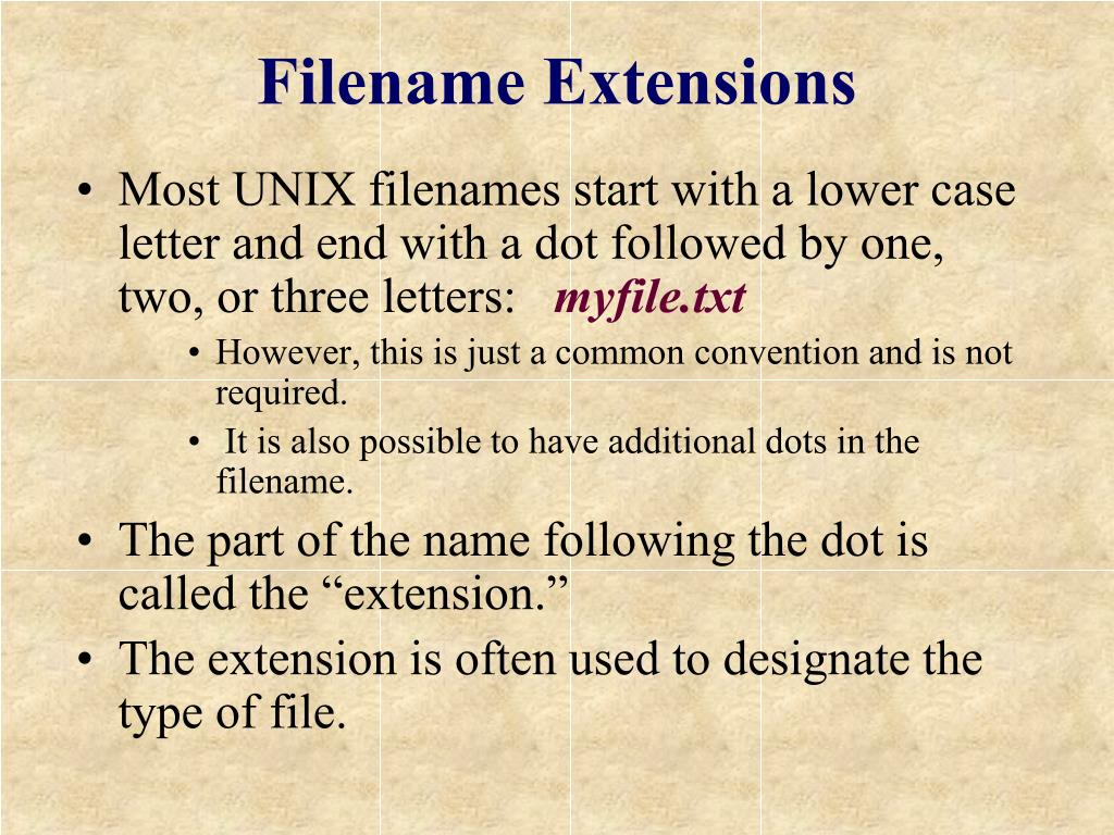 Filename Extensions