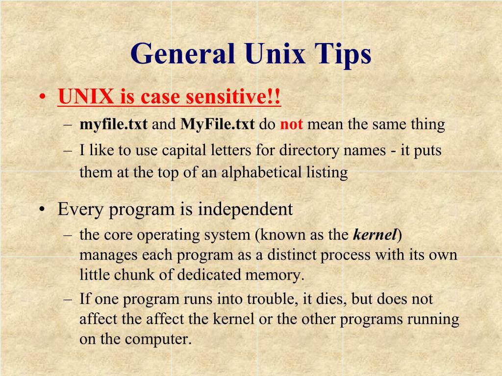General Unix Tips