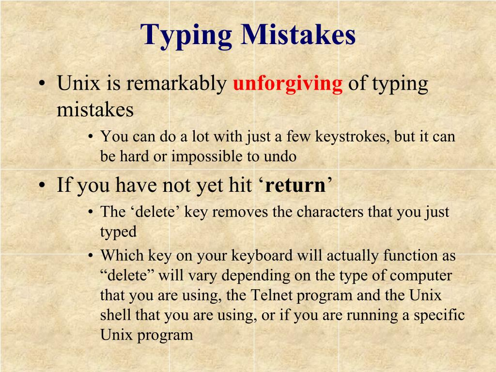 Typing Mistakes