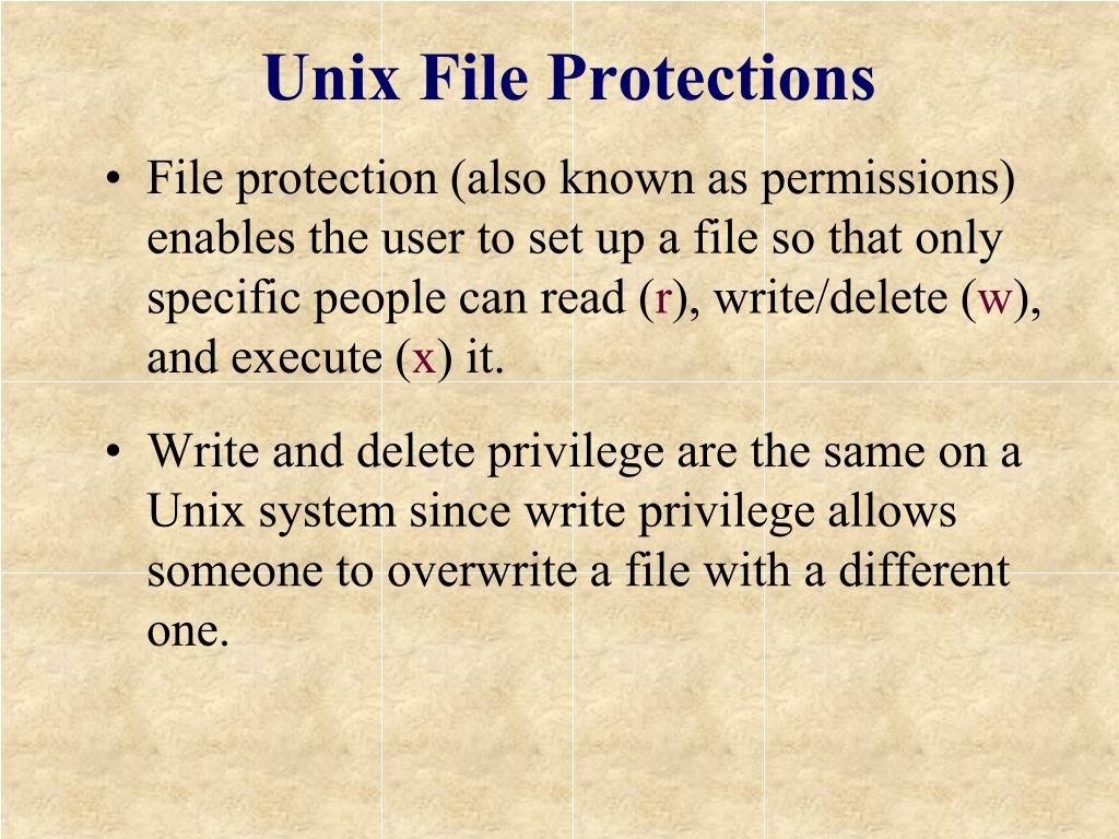 Unix File Protections