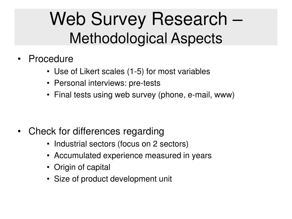 Web Survey Research –