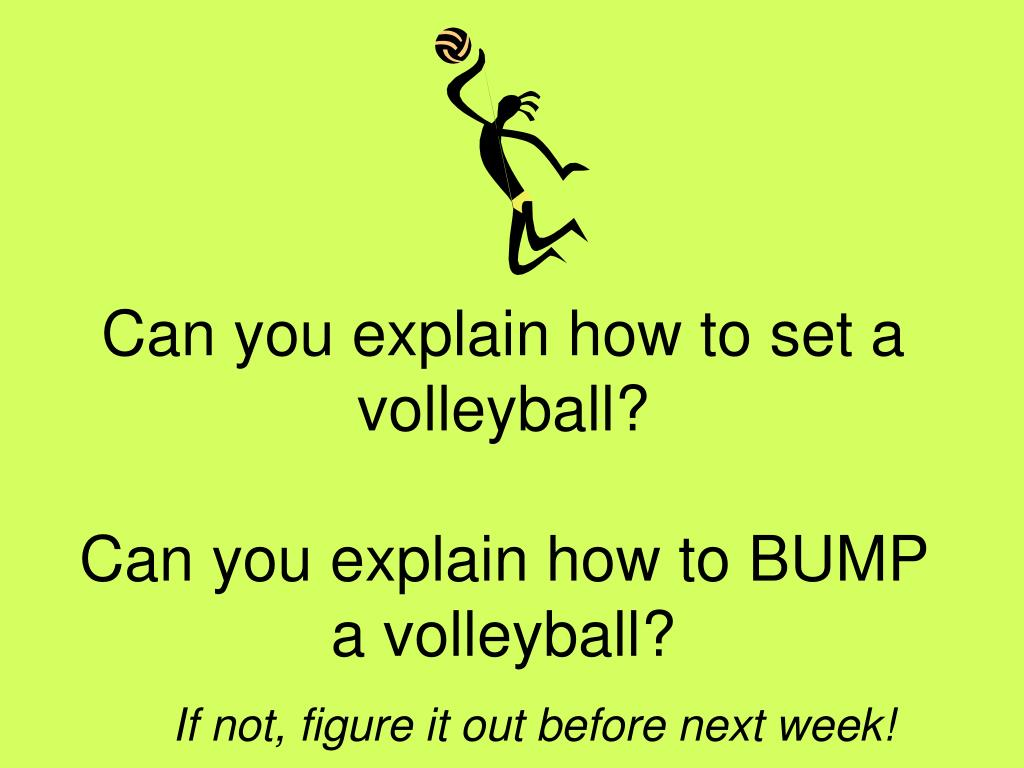 Can you explain how to set a volleyball?