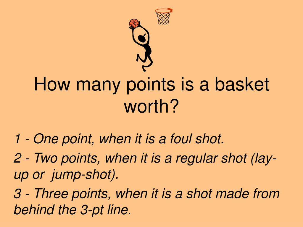 How many points is a basket worth?