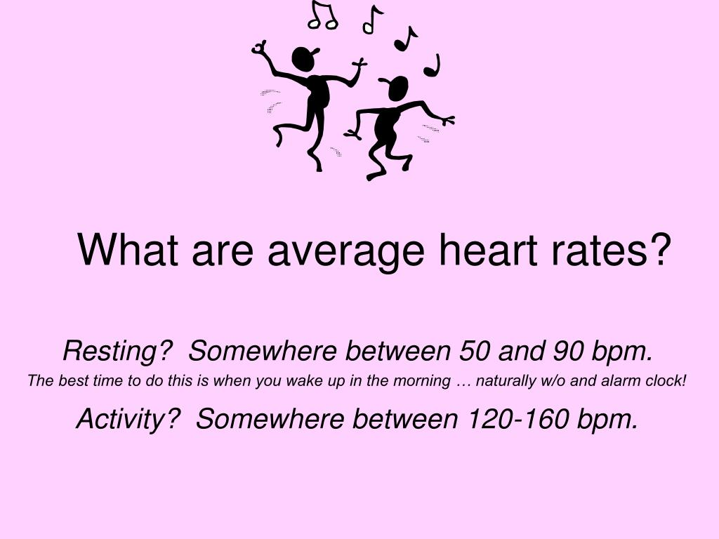 What are average heart rates?