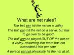 what are net rules