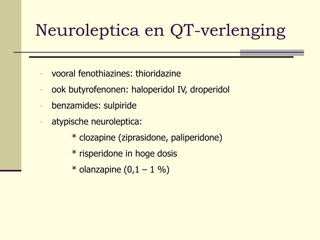 Neuroleptica en QT-verlenging
