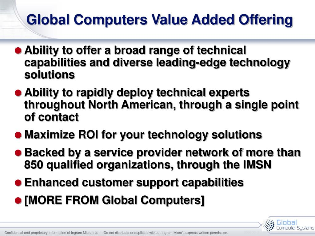 Global Computers Value Added Offering