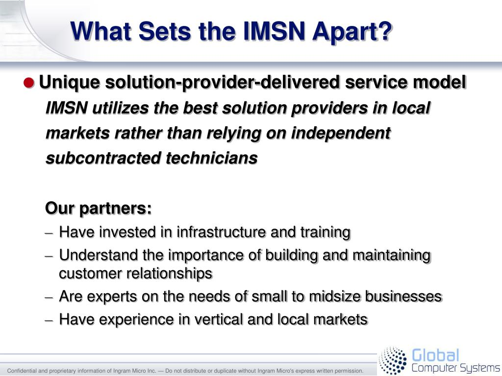 What Sets the IMSN Apart?