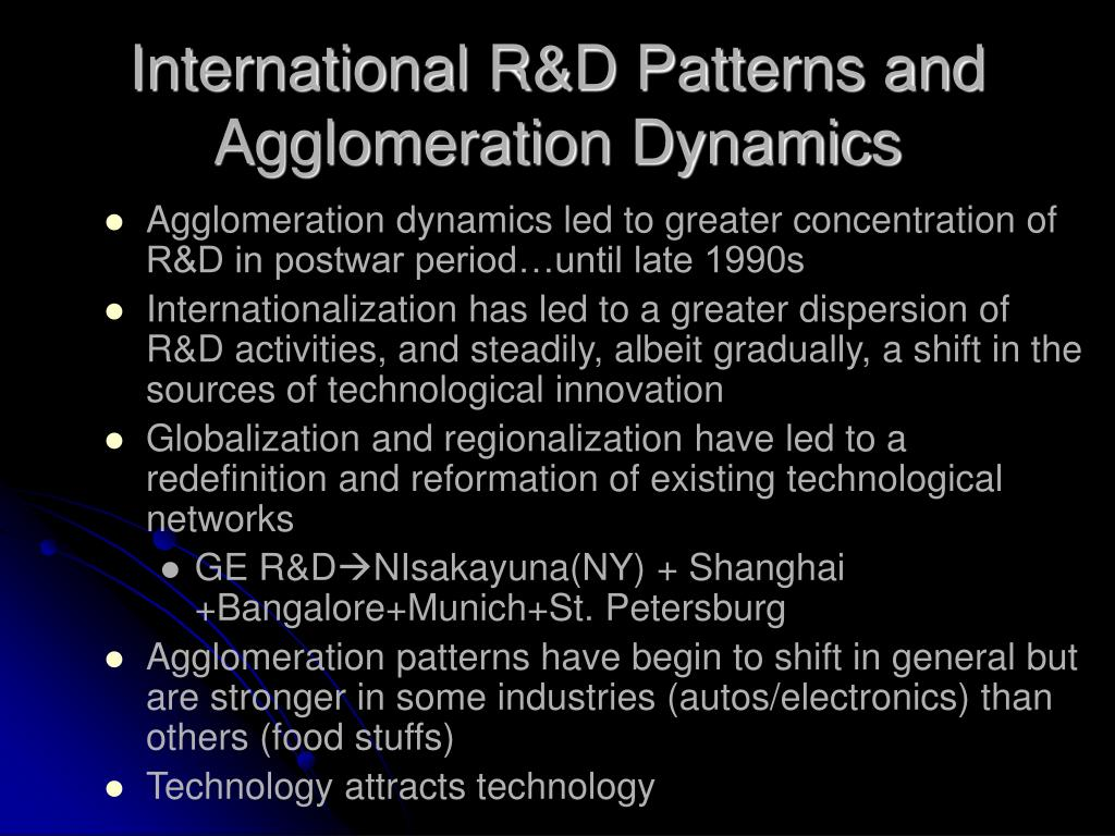 International R&D Patterns and Agglomeration Dynamics