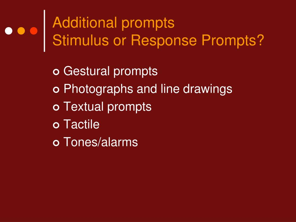 Additional prompts