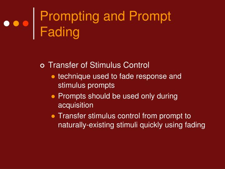 Prompting and prompt fading3
