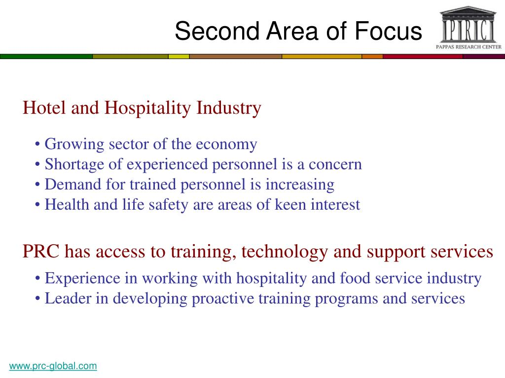 Second Area of Focus