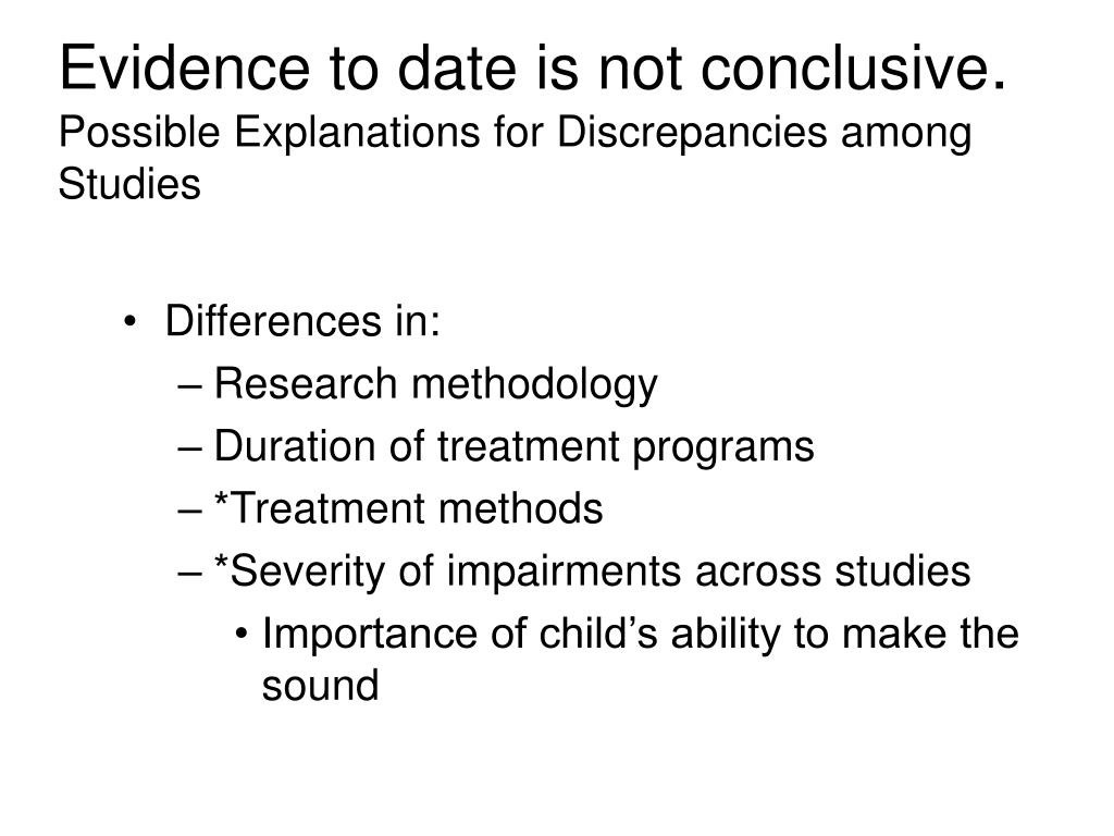 Evidence to date is not conclusive