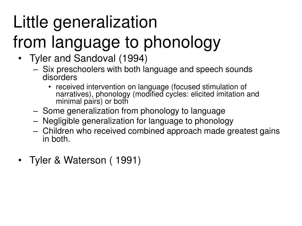 Little generalization