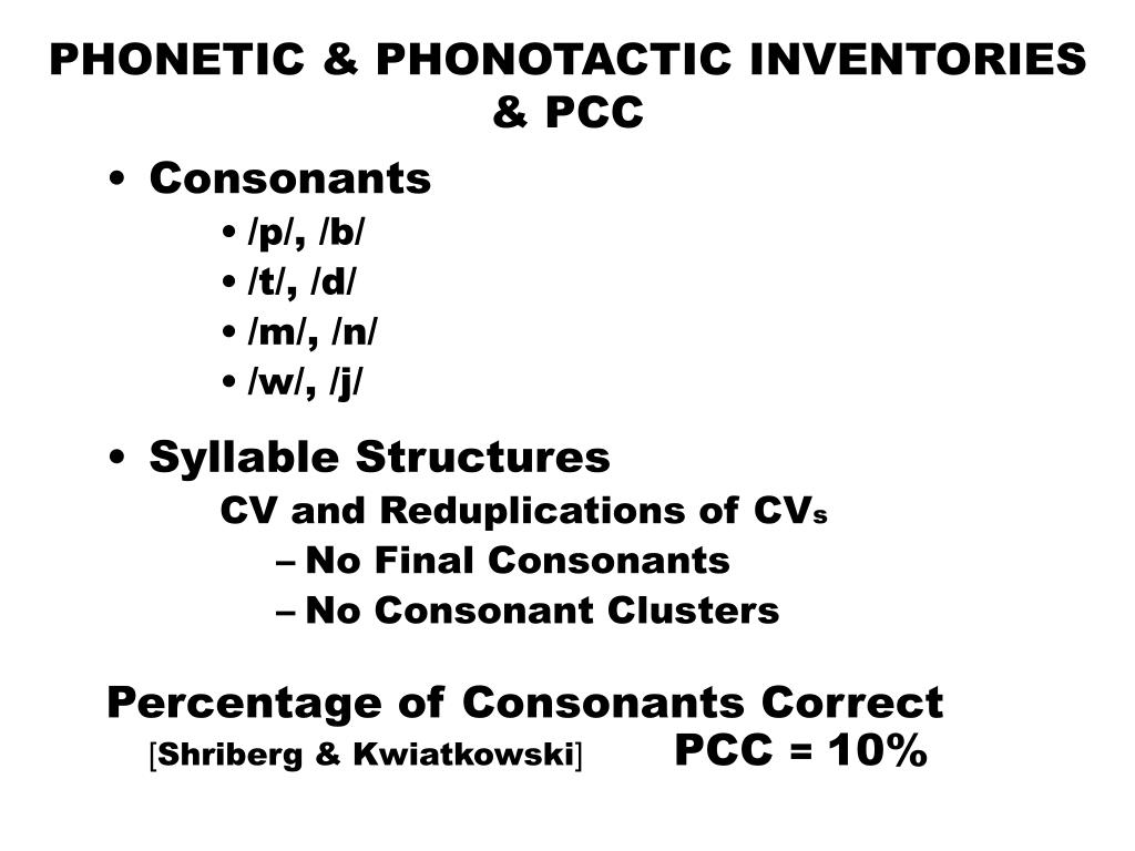 PHONETIC & PHONOTACTIC INVENTORIES