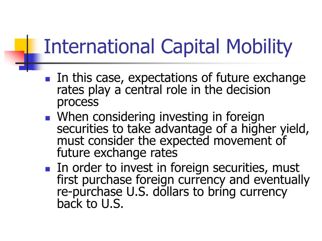 International Capital Mobility
