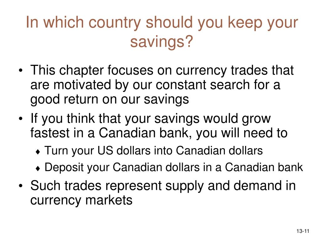 In which country should you keep your savings?