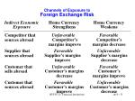 channels of exposure to foreign exchange risk51
