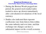 empirical evidence on firm profits share prices exchange rates