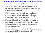 jp morgan s assumptions in its measure of var