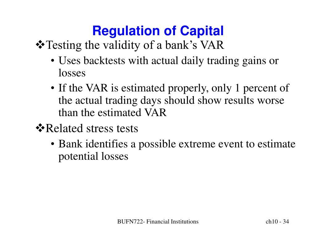 Regulation of Capital