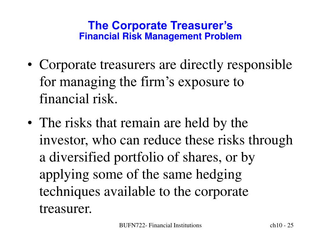 The Corporate Treasurer's