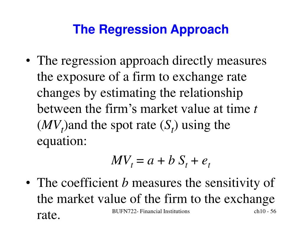 The Regression Approach
