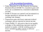 u s accounting conventions reporting accounting gains and losses
