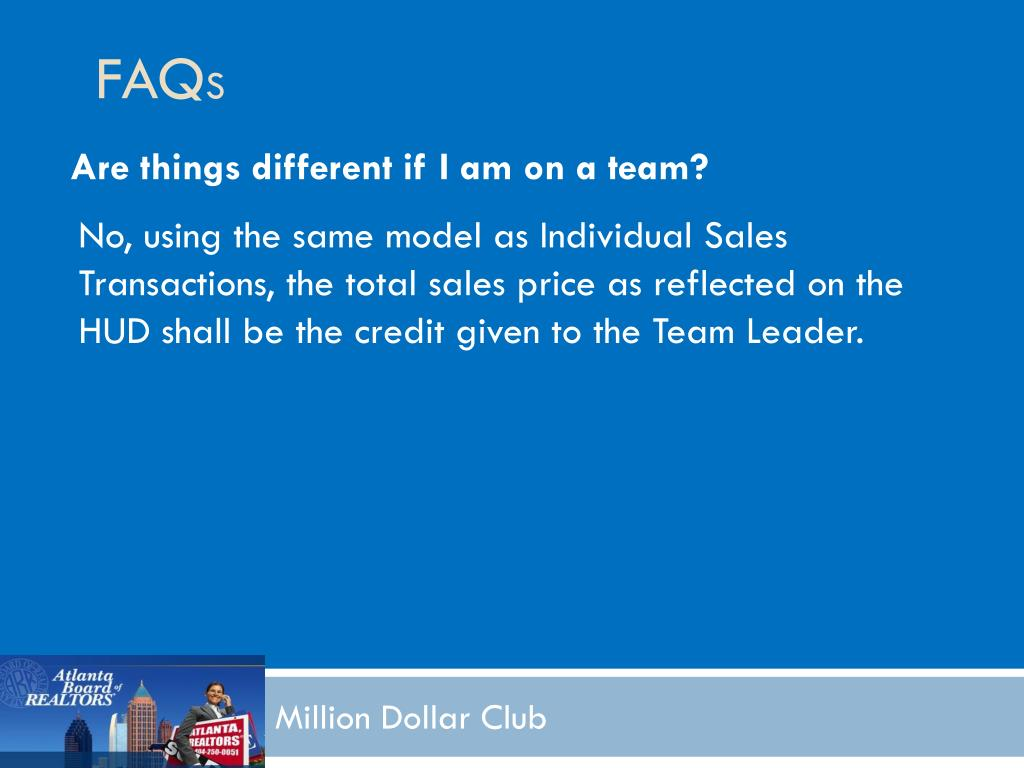 Are things different if I am on a team?