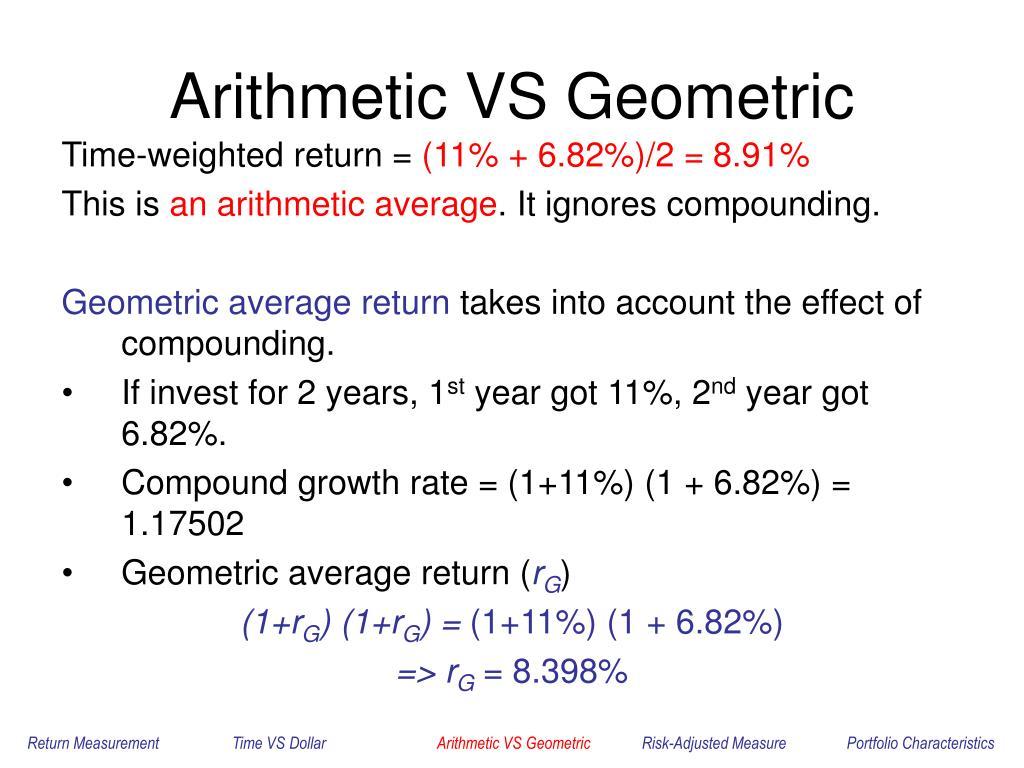 Arithmetic VS Geometric