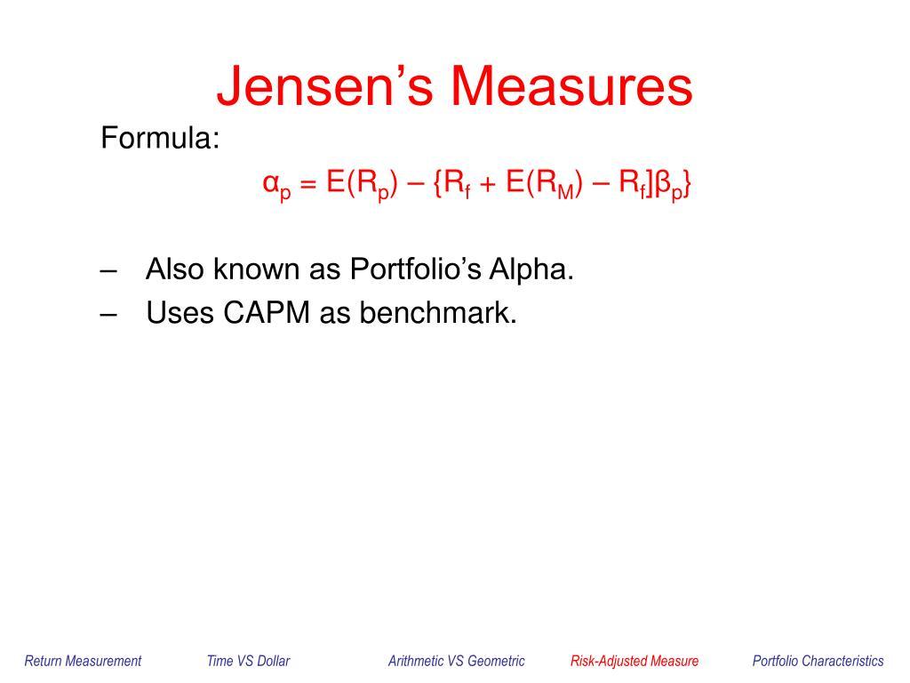 Jensen's Measures