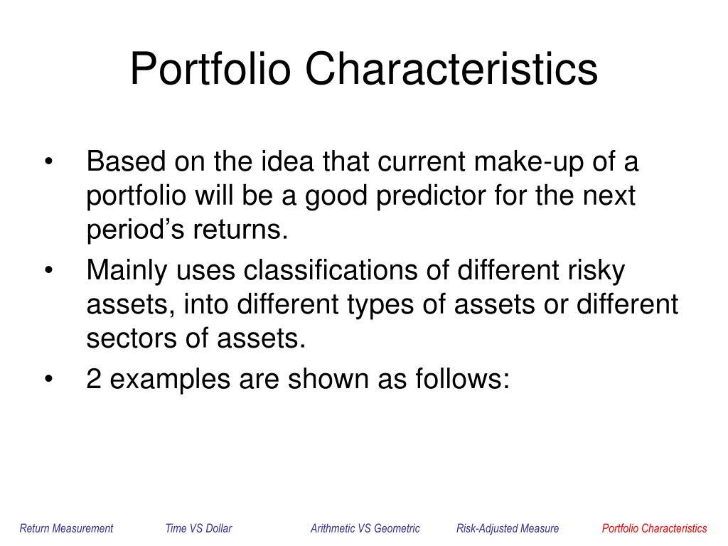 Portfolio Characteristics