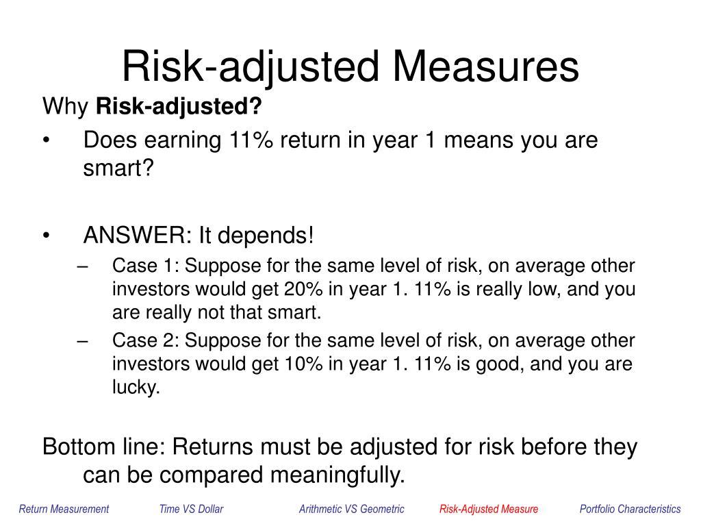 Risk-adjusted Measures
