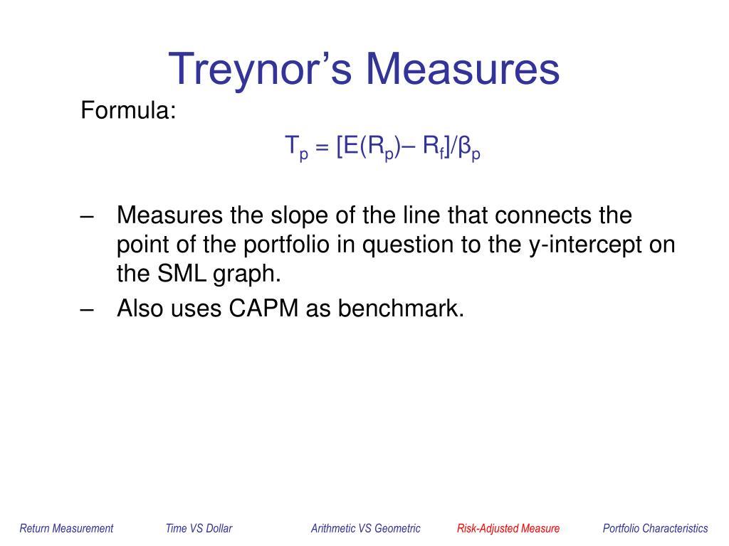 Treynor's Measures