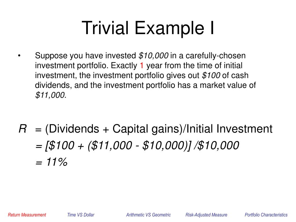 Trivial Example I