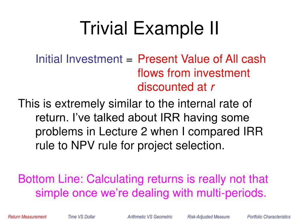 Trivial Example II