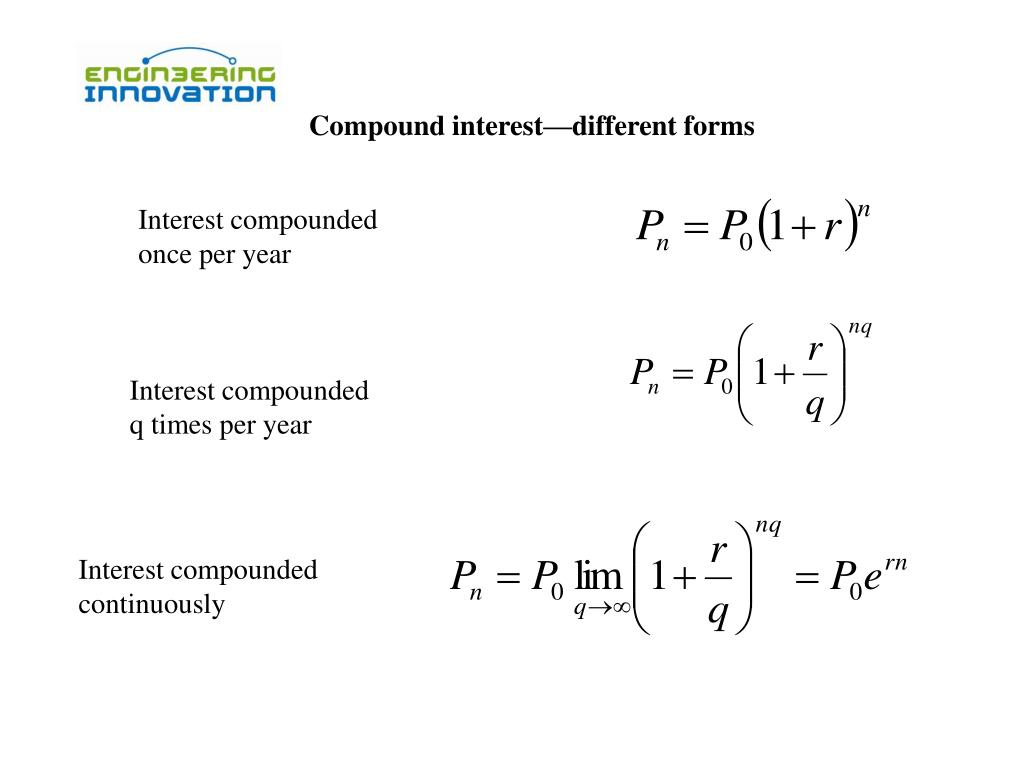 Compound interest—different forms