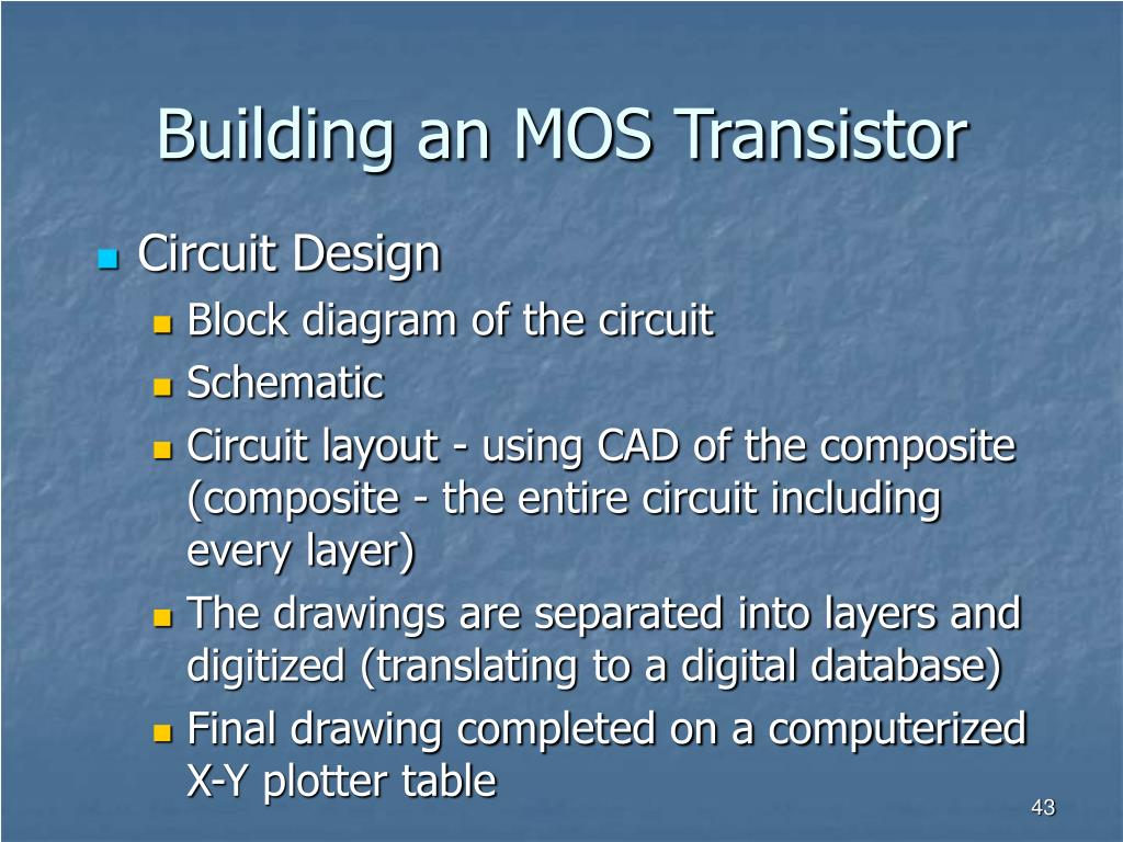 Building an MOS Transistor