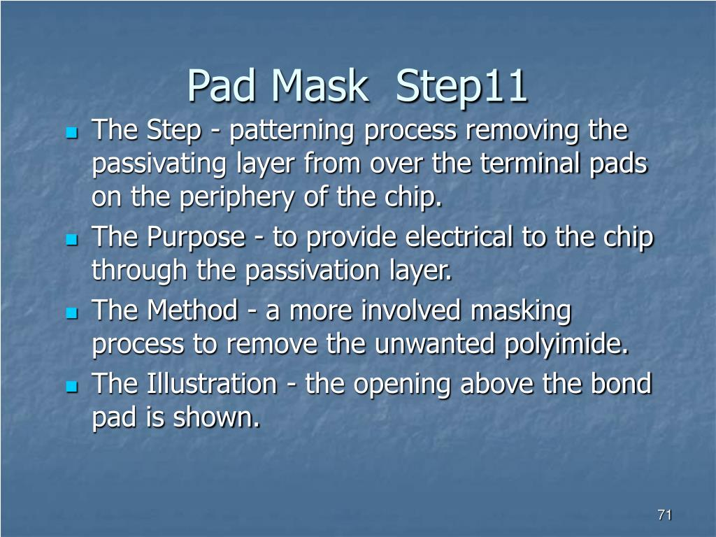 Pad Mask  Step11