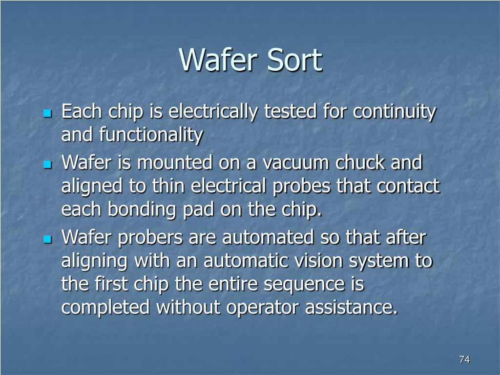 Wafer Sort