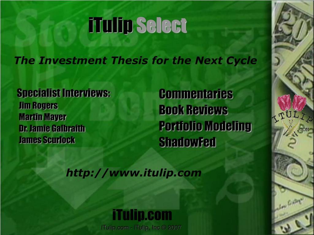 Specialist Interviews: