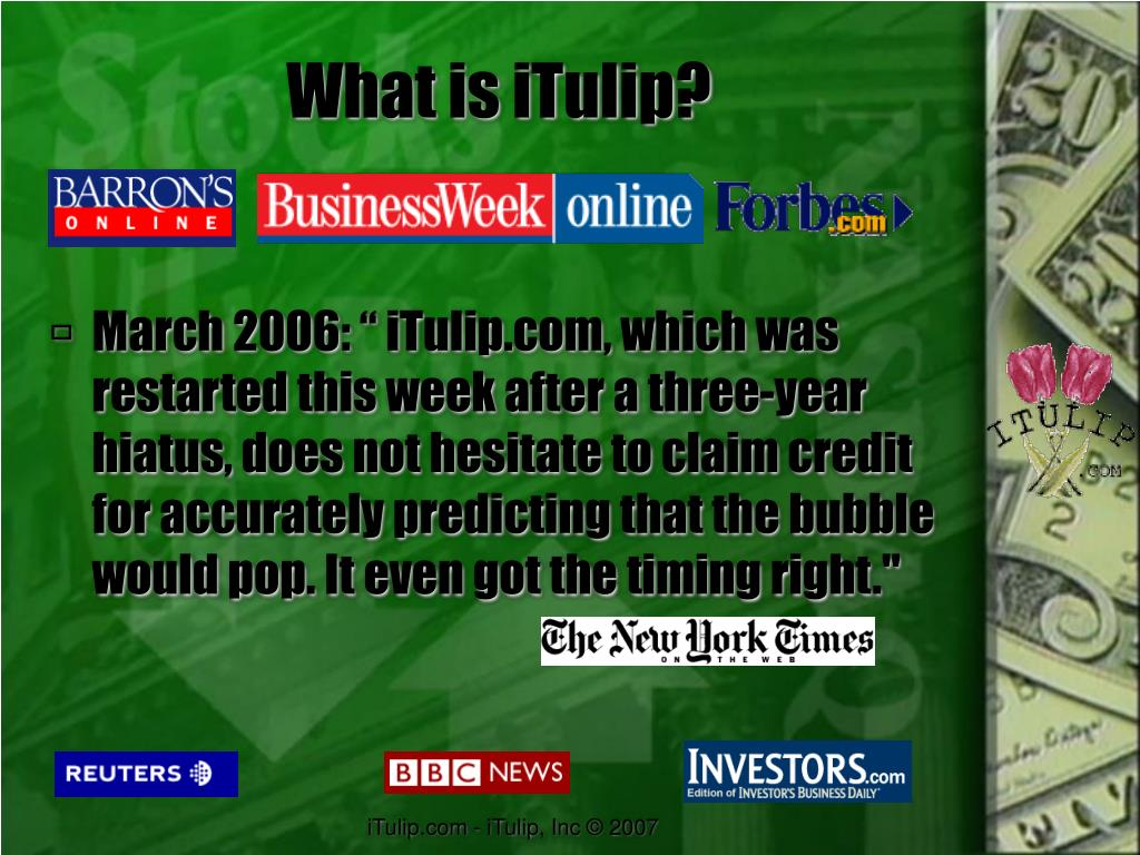 What is iTulip?