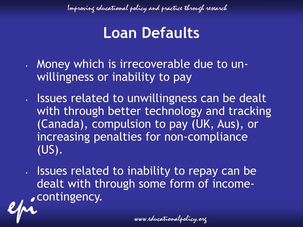 Loan Defaults